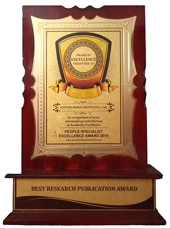 Ignited Minds received Excellence Award 2019 in Best Research Publication